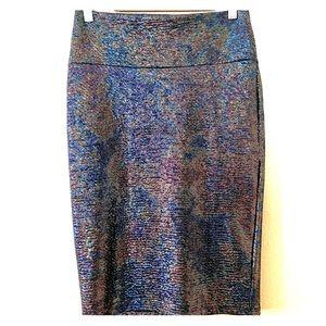 LuLaRoe Oil Slick Cassie Pencil Skirt NWOT